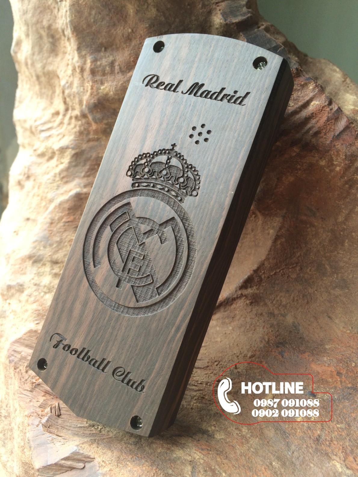 Vỏ điện thoai 1202 gỗ mun - CLB Real