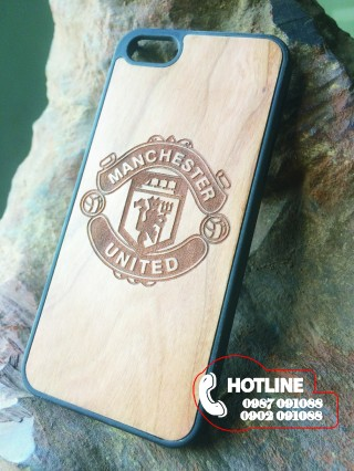 Ốp lưng gỗ iphone 5/5s - Họa tiết CLB Manchester United